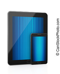 tablet pc with mobile phone