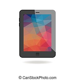 Illustration Of Tablet With Abstract Background