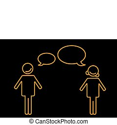 talking boy and girl