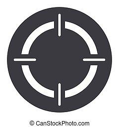 target circle gray icon