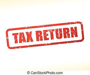 tax return text buffered