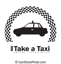 taxi icon - Illustration of taxi icons, transport industry,...