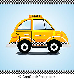 taxi on the way - illustration of taxi on the way