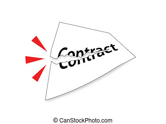 Illustration of Tear Contract