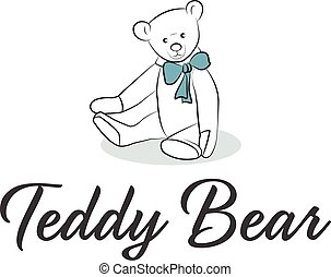Illustration of Teddy Bear with bow