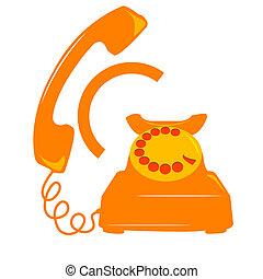 telephone icon - illustration of telephone icon on white ...