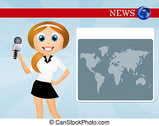 Television News Clip Art And Stock Illustrations 12819