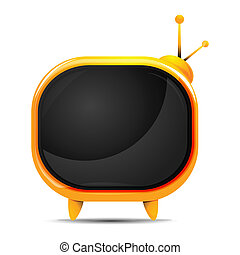 television - illustration of television on white background