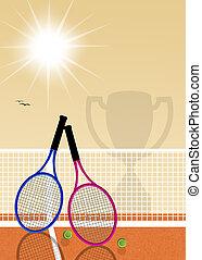 tennis tournament - illustration of tennis tournament