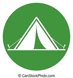 tent green circle icon