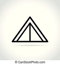 tent line icon on white background