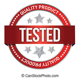 illustration of tested icon