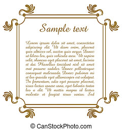 text template with floral frame