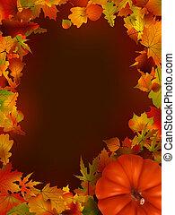 illustration of thanksgiving day background. EPS 8