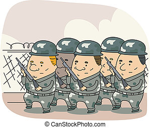 Armed Forces - Illustration of the Armed Forces at Work