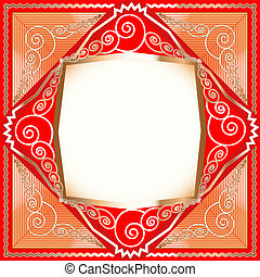 background frame with ornaments of gold