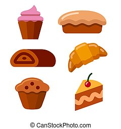 illustration of the bakery and dessert icons