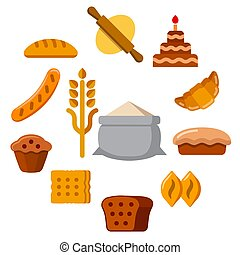 illustration of the bakery concept icon