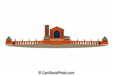 Illustration of the basilica of Aparecida original colored -...