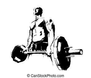 the bodybuilder - illustration of the bodybuilder