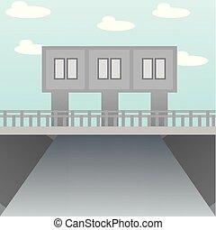 illustration of the bridge