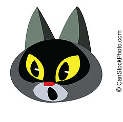 illustration of the cat on white background