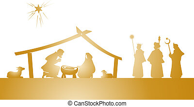 nativity play - illustration of the christmas nativity play ...