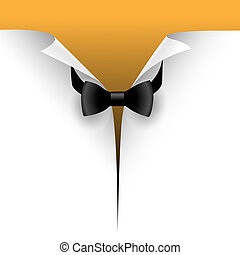 bow tie - Illustration of the cut paper with a bow tie. ...