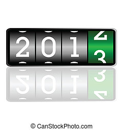 illustration of the dial for 2013