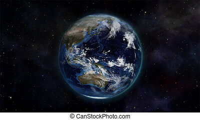 Illustration of the earth in space