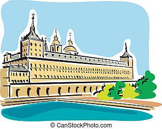 Illustration of the Escorial in Spain