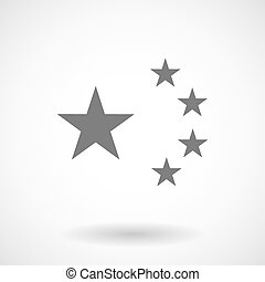 Illustration of the five stars china flag symbol