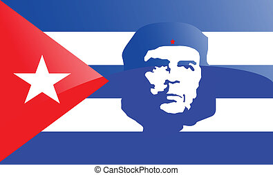 Illustration of the flag of Cuba