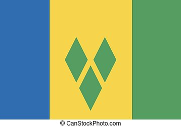 Illustration of the flag of Saint Vincent and the Grenadines...