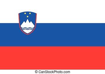 Illustration of the flag of Slovenia - An Illustration of...