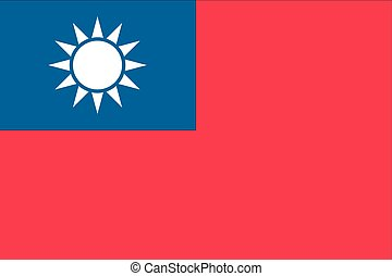 Illustration of the flag of Taiwan