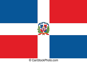 Illustration of the flag of the Dominican Republic - An...