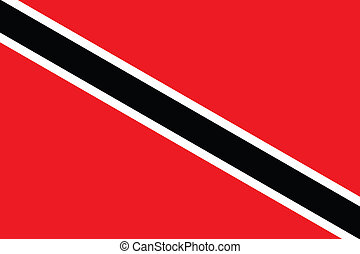 Illustration of the flag of Trinidad and Tobago