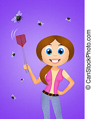 illustration of the fly swatter