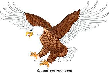 Illustration of the flying eagle