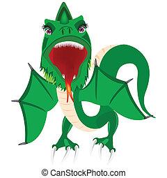 Illustration of the green dragon