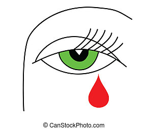 illustration of the green eye of the witch