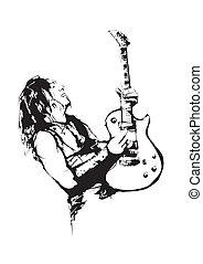 guitarist - illustration of the guitarist