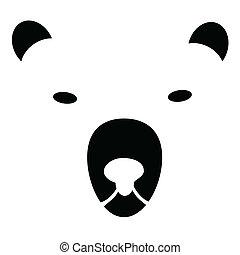illustration of the head bears