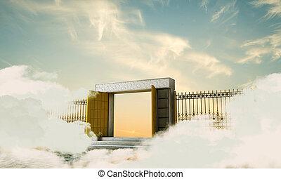 heaven gate - illustration of the heaven gate