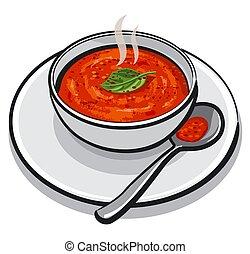 hot tomato soup