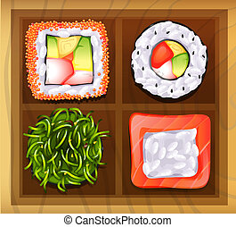 Japanese rice meals