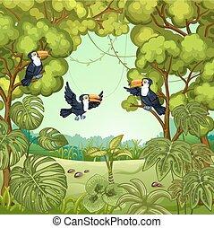 Illustration of the jungle