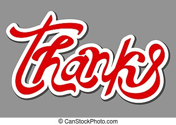 sticker of thank you