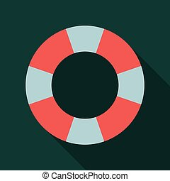 Illustration of the Lifebuoy isolated on Background, Colored Logo Template.